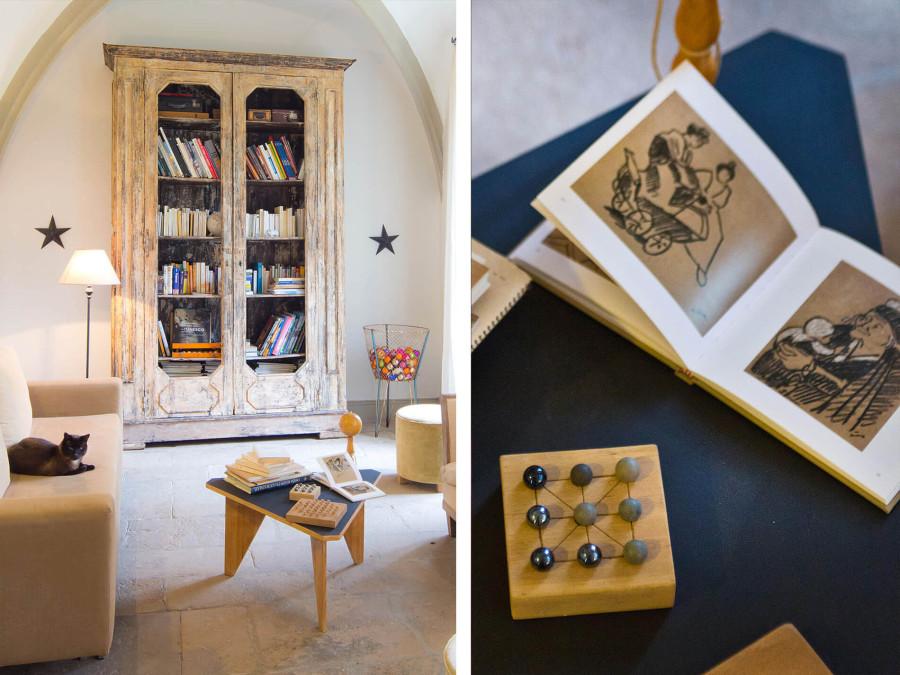 La bibliothèque du Château d'Uzer