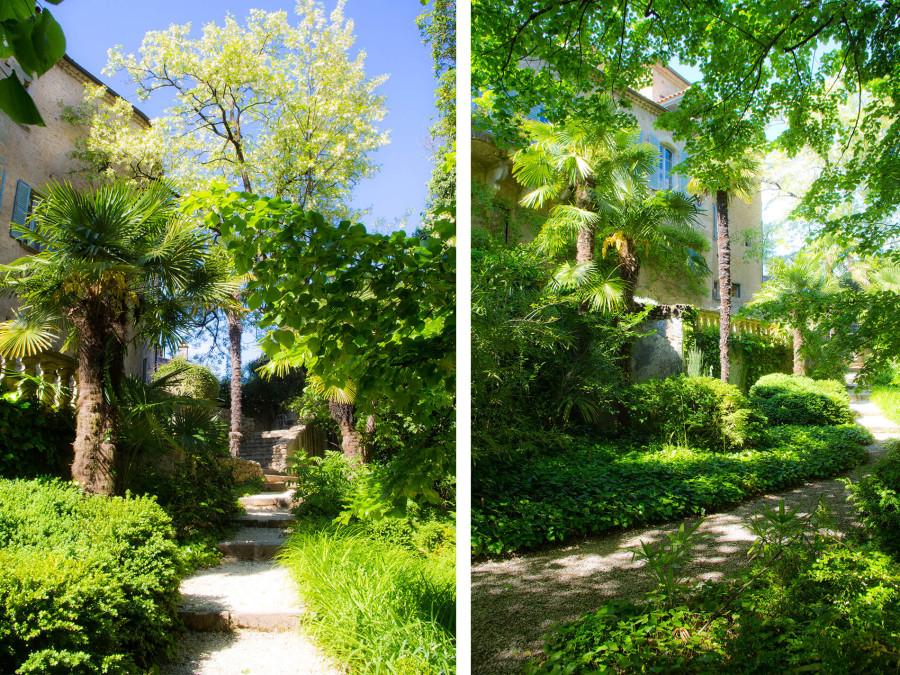 le parc du Château d'Uzer, jardin remarquable